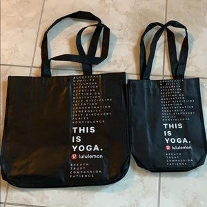 2 new Lululemon shopping Bags
